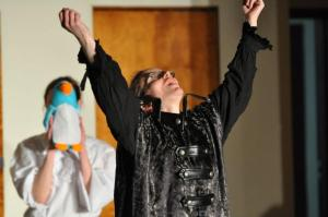 "Christine Boyce as ""Malvolio"" in ""A Midsummer Night's Dream"""